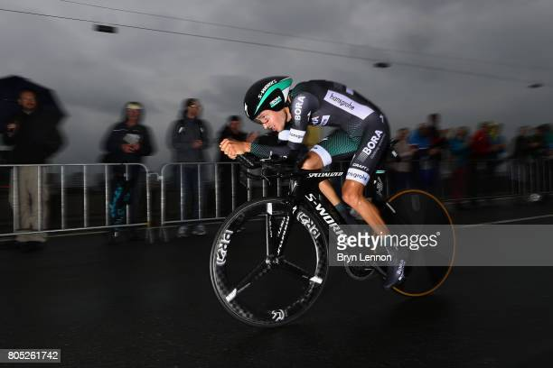 Emanuel Buchmann of Germany and BoraHansgrohe competes during stage one of Le Tour de France 2017 a 14km individual time trial on July 1 2017 in...
