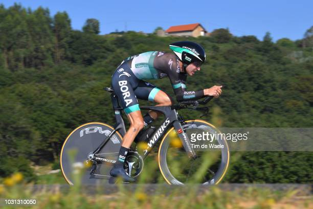 Emanuel Buchmann of Germany and Team Bora Hansgrohe / during the 73rd Tour of Spain 2018 Stage 16 a 32km Individual Time Trial stage from Santillana...