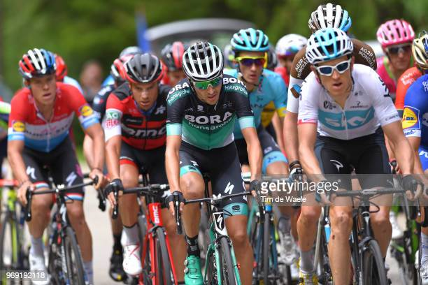 Emanuel Buchmann of Germany and Team Bora Hansgrohe / Romain Bardet of France and Team AG2R La Mondiale / during the 70th Criterium du Dauphine 2018...