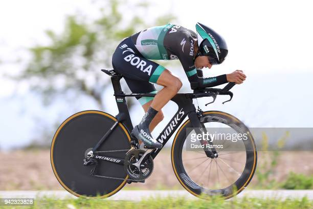 Emanuel Buchmann of Germany and Team BoraHansgrohe / during the 58th Vuelta Pais Vasco 2018 Stage 4 a 194km individual time trial stage from Lodosa...