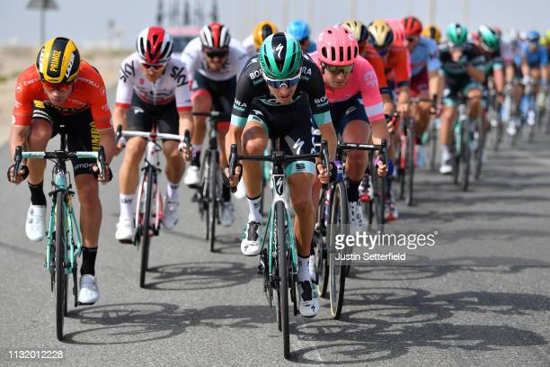 Emanuel Buchmann of Germany and Team BoraHansgrohe / during the 5th UAE Tour 2019 Stage 2 a 184km stage from Yas Mall to Abu Dhabi / #UAETour / on...