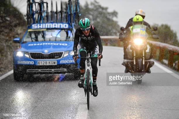 Emanuel Buchmann of Germany and Team BoraHansgrohe / Rain / Car / during the 28th Mallorca Challenge 2019 Trofeo Serra de Tramuntana a 1793km race...