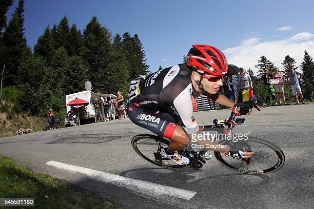 Emanuel Buchmann of Germany riding for BoraArgon 18 decends the Col d'Aspin during stage seven of the 2016 Le Tour de France a 1625km stage from...