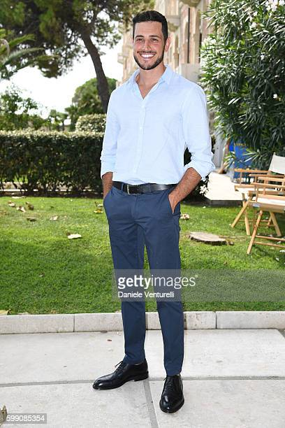 Emanuel Caserio poses after the Kineo Diamanti Award press conference during the 73rd Venice Film Festival at on September 4 2016 in Venice Italy