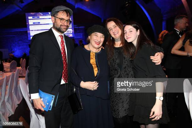 Emanuel Cohn of Arthur Cohn and his mother Naomi Cohn, daughter Nurith Cohn and daughter of Emanuel Cohn, Rachel Cohn, during the Cinema for Peace...