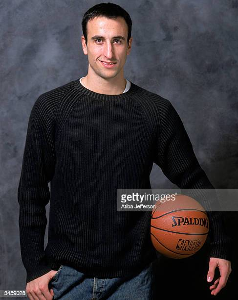 Emanuel Ginobili of the San Antonio Spurs poses for a portrait during the 2004 NBA AllStar Weekend on February 13 2004 in Los Angeles California NOTE...
