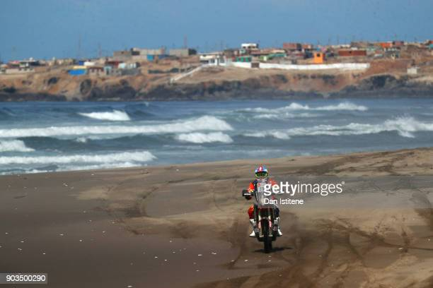 Emanuel Gyenes of Romania and Autonet Motorcycle Team rides a 450 Rally Replica KTM in the Classe 22 Marathon during stage five of the 2018 Dakar...
