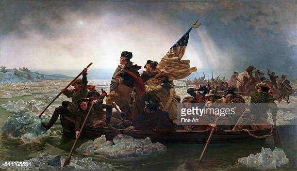 Emanuel Leutze , Washington Crossing the Delaware oil on canvas, 149 x 255 , Metropolitan Museum of Art, New York.