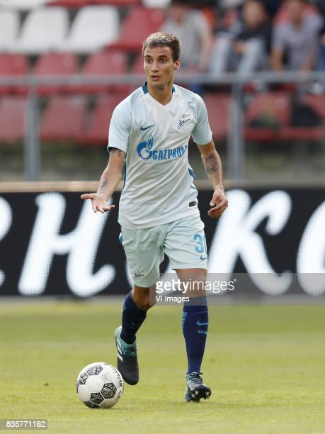Emanuel Mammana of FC Zenit during the UEFA Europa League fourth round qualifying first leg match between FC Utrecht and FK Zenit St Petersburg at...