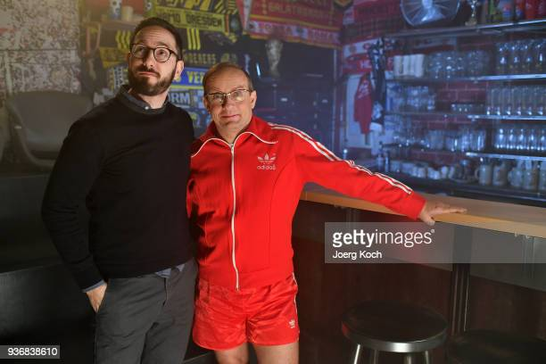 Emanuel Rotstein Director Production HISTORY Germany and Wigald Boning is seen on set at sports bar 'Stadion an der Schleissheimerstrasse' during the...