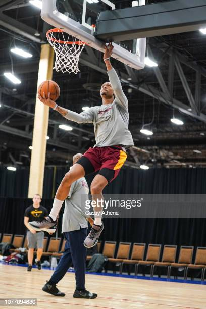 Emanuel Terry of the Canton Charge drives to the basket as he warms up during the NBA G League Winter Showcase on December 19 2018 at Mandalay Bay...