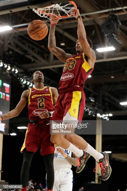 Emanuel Terry of the Canton Charge dunks the ball against the Santa Cruz Warriors during the NBA G League Winter Showcase at Mandalay Bay Events...