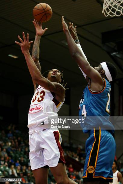 Emanuel Terry of the Canton Charge goes to the basket against the Grand Rapids Drive during the NBA GLeague on November 17 2018 at the DeltaPlex...