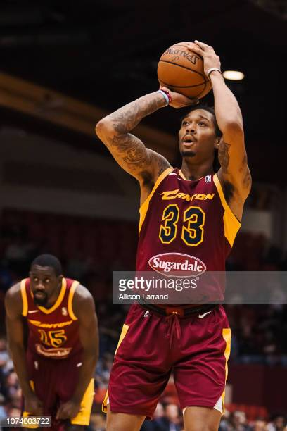 Emanuel Terry of the Canton Charge shoots a free throw in a game against the Greensboro Swarm on December 15 2018 at the Canton Memorial Civic Center...