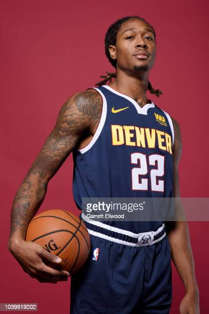 Emanuel Terry of the Denver Nuggets poses for a portrait during Media Day on September 24 2018 at the Pepsi Center in Denver Colorado NOTE TO USER...