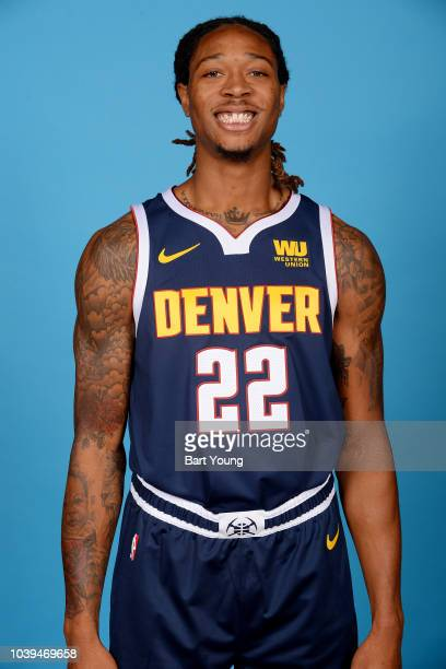 Emanuel Terry of the Denver Nuggets poses for head shot during Media Day on September 24 2018 at the Pepsi Center in Denver Colorado NOTE TO USER...