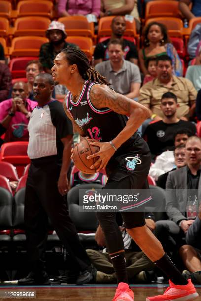 Emanuel Terry of the Miami Heat on February 23 2019 at American Airlines Arena in Miami Florida NOTE TO USER User expressly acknowledges and agrees...