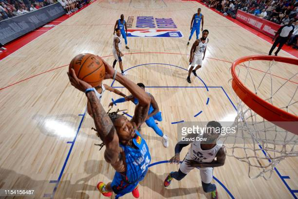 Emanuel Terry of the Oklahoma City Thunder goes to the basket against the Utah Jazz on July 6 2019 at the Cox Pavilion in Las Vegas Nevada NOTE TO...