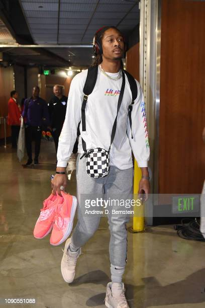 Emanuel Terry of the Phoenix Suns arrives before the game against the Los Angeles Lakers on January 27 2019 at STAPLES Center in Los Angeles...