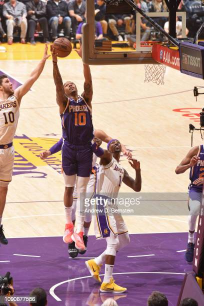 Emanuel Terry of the Phoenix Suns shoots the ball against the Los Angeles Lakers on January 27 2019 at STAPLES Center in Los Angeles California NOTE...