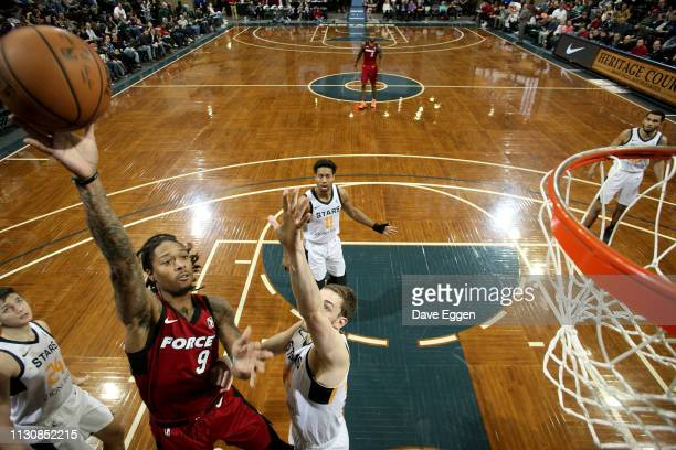 Emanuel Terry of the Sioux Falls Skyforce shoots against the Salt Lake City Stars during an NBA GLeague game on March 15 2019 at the Sanford Pentagon...