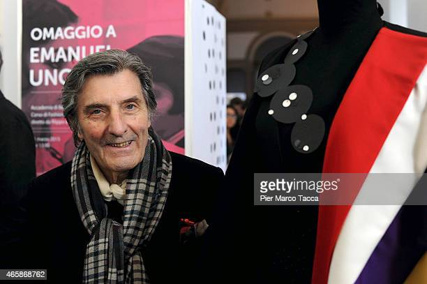 Emanuel Ungaro attends the Exhibition Press Conference 'Omaggio a EmanuelUngaro' on March 11, 2015 in Milan, Italy.