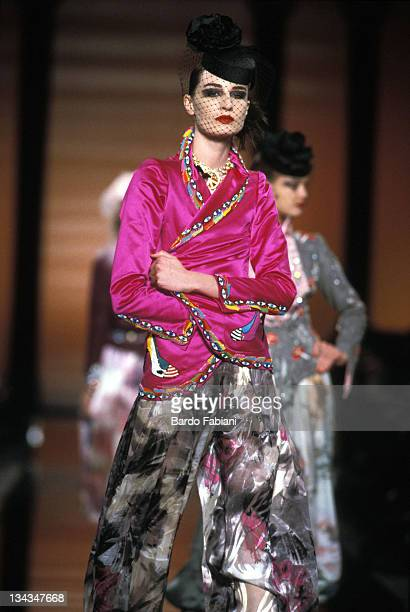 Emanuel Ungaro Model during Emanuel Ungaro Couture Spring 2003 Collection at Teatre National de Chaillot in Paris France