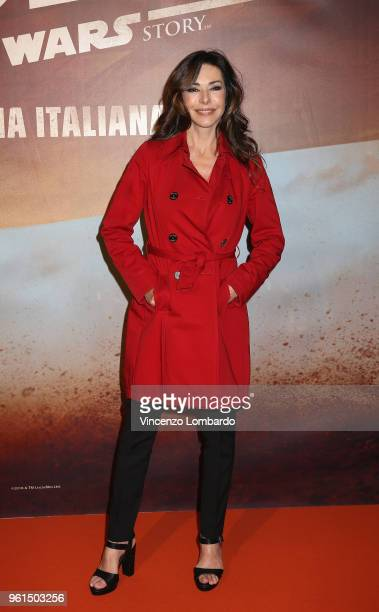 Emanuela Folliero attends a photocall for Solo A Star Wars Story on May 22 2018 in Milan Italy