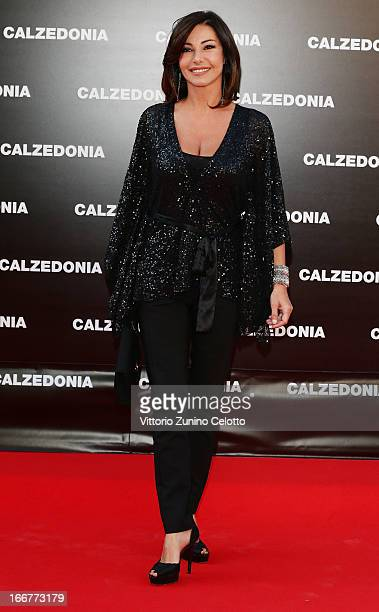 Emanuela Folliero attends Calzedonia Summer Show Forever Together on April 16 2013 in Rimini Italy