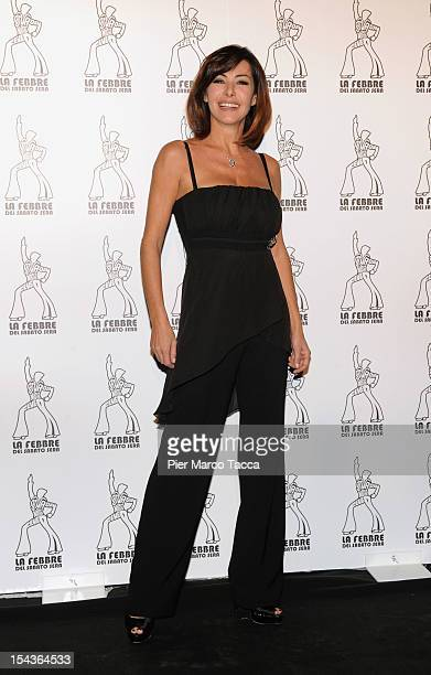 Emanuela Folliero attends La Febbre del Sabato Sera photocall at Teatro Nazionale on October 18 2012 in Milan Italy