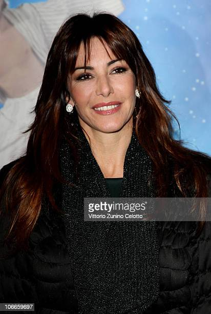 Emanuela Folliero attends the Aladin The Musical Red Carpet held at Teatro Nuovo on November 9 2010 in Milan Italy