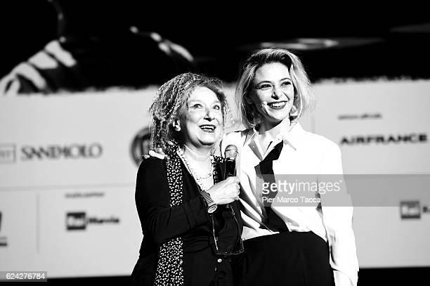 Emanuela Martini Director of Torino Film Festival and Jasmine Trinca attend the Opening Ceremony of the 34 Torino Film Festival on November 18 2016...