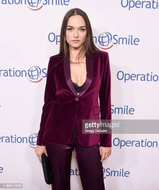 Emanuela Postacchini arrives at Operation Smile's Hollywood Fight Night at The Beverly Hilton Hotel on November 6 2019 in Beverly Hills California