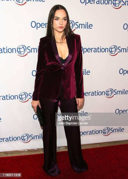 Emanuela Postacchini attends Operation Smile's Hollywood Fight Night hosted by Brooke Burke and Manny Pacquiao at the Beverly Hilton on November 06...
