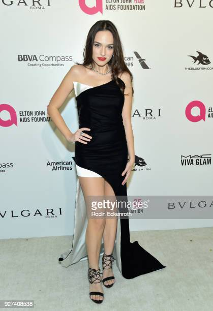 Emanuela Postacchini attends the 26th annual Elton John AIDS Foundation's Academy Awards Viewing Party at The City of West Hollywood Park on March 4...