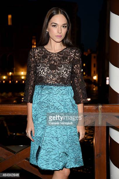 Emanuela Postacchini attends the Exclusive Dinner hosted by Andrea Iervolino and Monika Bacardi during the 71st Venice Film Festival on August 29...