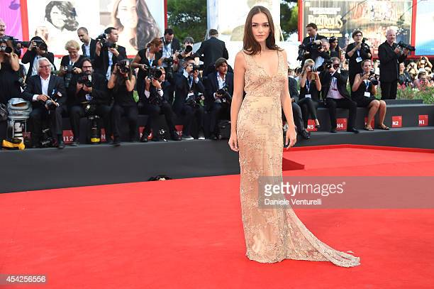 Emanuela Postacchini attends the Opening Ceremony and 'Birdman' premiere during the 71st Venice Film Festival at Palazzo Del Cinema on August 27 2014...