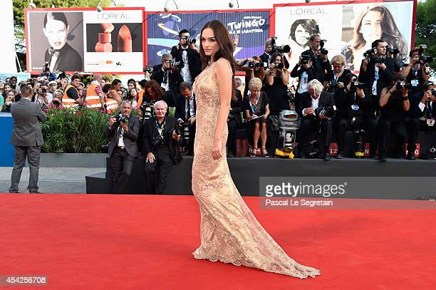 Emanuela Postacchini attends the Opening Ceremony and 'Birdman' premiere during the 71st Venice Film Festival on August 27 2014 in Venice Italy