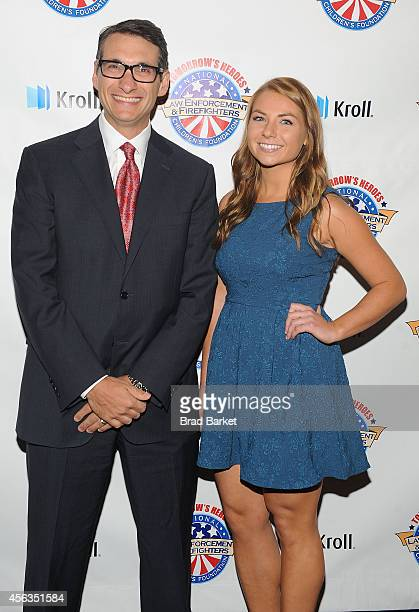 Emanuele A Conti and Bridget Hanley attend The National Law Enforcement And Firefighters Children's Foundation Hosts 2nd Annual Hero Awards Gala on...