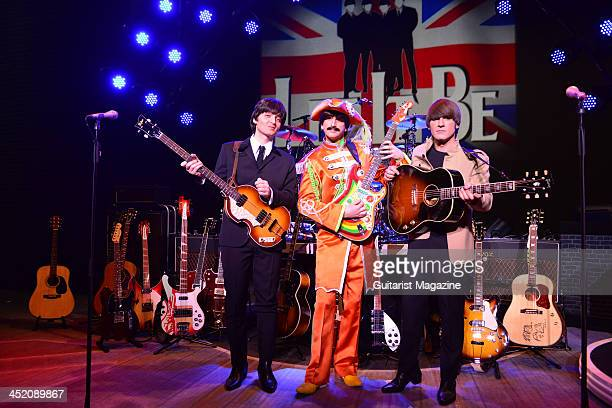 Emanuele Angeletti Paul Mannion and Michael Gagliano dressed as Paul McCartney George Harrison and John Lennon as part of the Let It Be musical at...