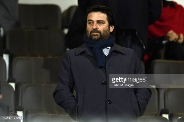 Emanuele Facile CEO of Palermo looks on during the Serie B match between US Citta di Palermo and US Salernitana at Stadio Renzo Barbera on January 18...