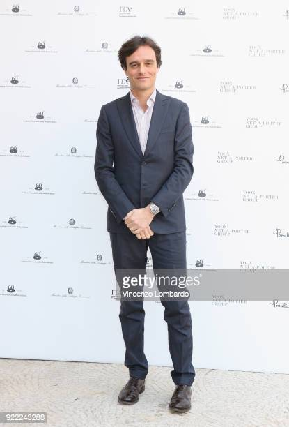 Emanuele Farneti attends 'Italiana L'Italia Vista Dalla Moda 19712001' exhibition preview during Milan Fashion Week Fall/Winter 2018/19 at Palazzo...