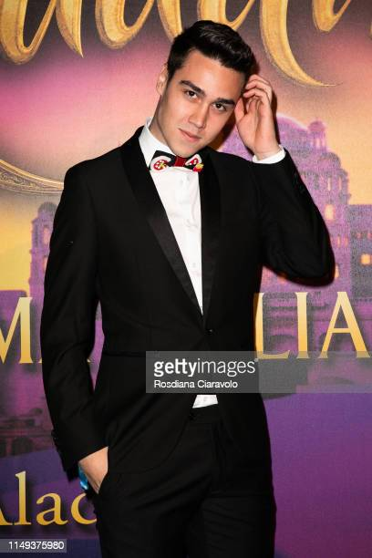 Emanuele Ferrari aka Emilife attends the Aladdin photocall and red carpet at The Space Cinema Odeon on May 15 2019 in Milan Italy