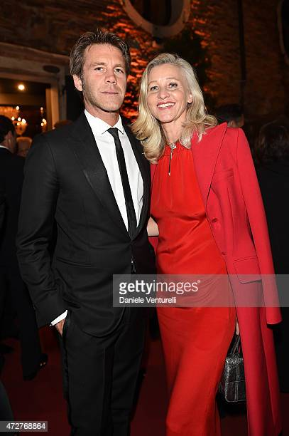 Emanuele Filiberto di Savoia and Ester Velo Van Hulst attend the Venetian Heritage And Bulgari Gala Dinner at Cipriani Hotel on May 9 2015 in Venice...