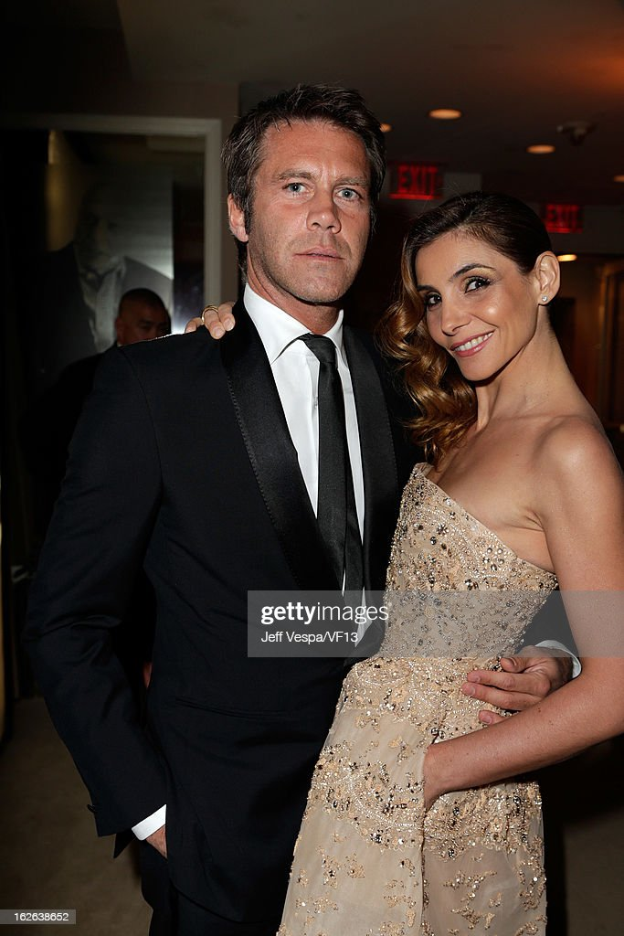 Emanuele Filiberto, Prince of Venice and Piedmont (L) and Clotilde Courau, Princess of Venice and Piedmont attend the 2013 Vanity Fair Oscar Party hosted by Graydon Carter at Sunset Tower on February 24, 2013 in West Hollywood, California.