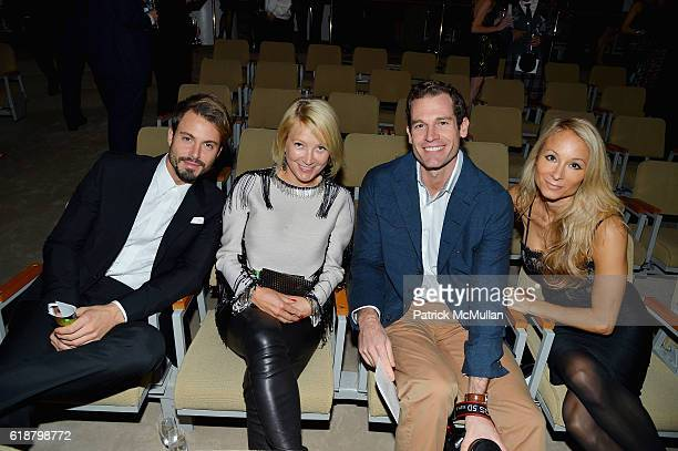 Emanuele Fiore Janna Bullock Brian Henderson and Indira Cesarine attend the Works Process Rotunda Projects Gala at the Guggenheim at Guggenheim...
