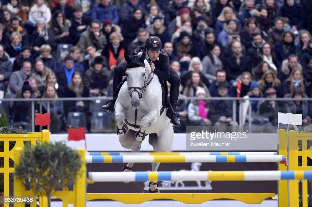 Emanuele Gaudiano of Italia on Caspar 232 competes during the Saut Hermes at Le Grand Palais on March 18 2018 in Paris France