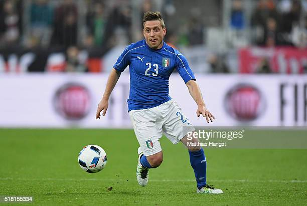 Emanuele Giaccherini of Italy controls the ball during the International Friendly match between Germany and Italy at Allianz Arena on March 29 2016...