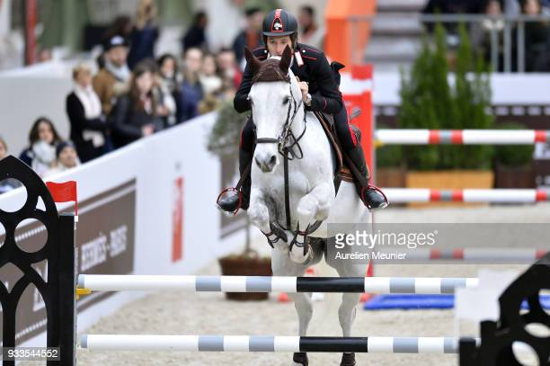Emanuele Massimiliano Bianchi of Italia on Zycalin W competes during the Saut Hermes at Le Grand Palais on March 18 2018 in Paris France