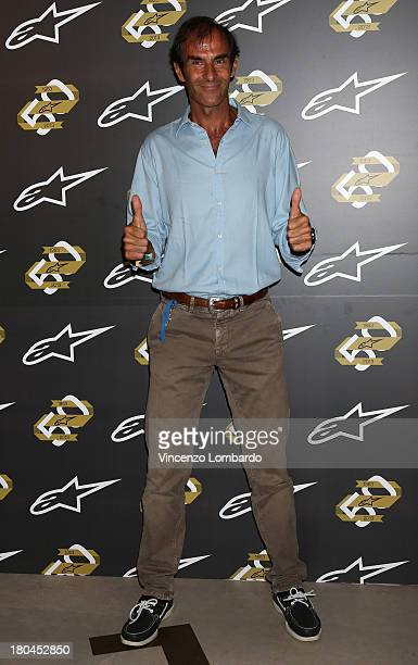 Emanuele Pirro attends the Alpinestars 50th Anniversary Event at Progetto Calabiana on September 8 2013 in Milan Italy